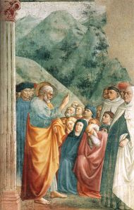 St. Peter, preaching the gospel